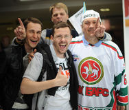 MINSK, BELARUS - MAY 10, 2014: The World Ice Hockey Championship. In Minsk - a look from within Stock Photo