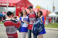 MINSK, BELARUS - MAY 10, 2014: The World Ice Hockey Championship Stock Images