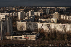 Minsk, Belarus: multi-stored prefabricated houses Royalty Free Stock Photography
