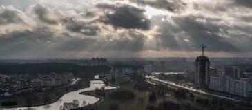 Minsk, Belarus: multi-stored prefabricated houses Stock Photos