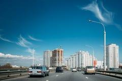 Minsk, Belarus. New Buildings Of Minsk In Sunny Day Royalty Free Stock Image