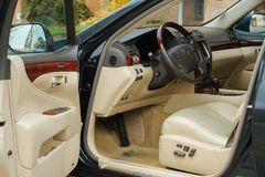 Lexus LS460 2008 interior Stock Photos