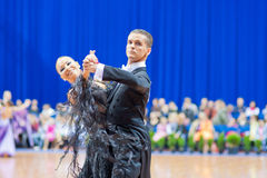 MINSK-BELARUS, OCTOBER 9: Adult Dance Couple Royalty Free Stock Photos