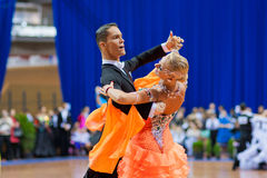 MINSK-BELARUS, OCTOBER 9:Adult  Dance Couple Royalty Free Stock Image