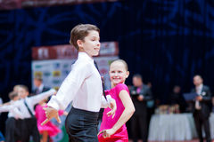 MINSK-BELARUS, OCTOBER 9:child Dance Couple Royalty Free Stock Images