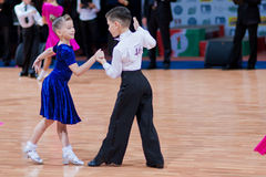 MINSK-BELARUS, OCTOBER 9:child Dance Couple Royalty Free Stock Photography