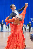 MINSK-BELARUS, OCTOBER 9: Dance Couple Royalty Free Stock Photos