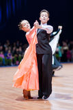 MINSK-BELARUS, OCTOBER 9:Dance Couple Royalty Free Stock Photos