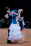 MINSK-BELARUS, OCTOBER 9:Junior Dance Couple Royalty Free Stock Photo