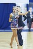 Minsk-Belarus, October 4,2014: Aleksei Tkachuk and Nadezhda Volu Royalty Free Stock Photos