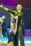 Minsk-Belarus, October 18, 2014: Egor Kosyakov-Anastasiya Belmac. H perform Adult Latin-American Program on on IDSA World Open Championship 2014 in October 18 Stock Photos