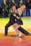 Minsk-Belarus, October 18, 2014: Egor Kosyakov-Anastasiya Belmac. H perform Adult Latin-American Program on on IDSA World Open Championship 2014 in October 18 Stock Images