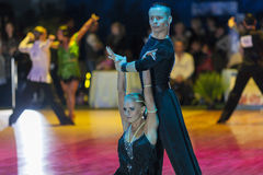 Minsk-Belarus, October 18, 2014: Egor Kosyakov-Anastasiya Belmac Royalty Free Stock Photography