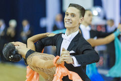 Minsk-Belarus, October 5, 2014: Professional dance couple of Ale Stock Photo