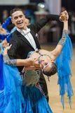 Minsk-Belarus, October 5, 2014: Professional dance couple of Ale Stock Images