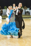 Minsk-Belarus, October 5, 2014: Professional dance couple of Ale Stock Photography