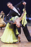 Minsk-Belarus, October 5, 2014: Professional dance couple of Ale Royalty Free Stock Image