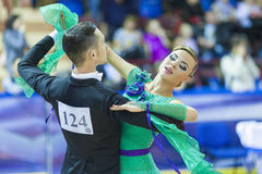 Minsk-Belarus, October 5, 2014: Professional dance couple of Ale Stock Image