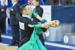 Minsk-Belarus, October 5, 2014: Professional dance couple of Ale Royalty Free Stock Images