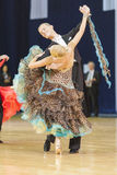 Minsk-Belarus, October 5, 2014: Professional dance Couple of Dul Royalty Free Stock Image