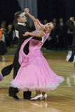 Minsk-Belarus, October 5, 2014: Professional Dance Couple of Il' Stock Image
