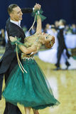 Minsk-Belarus, October 5, 2014: Professional Dance Couple of Rom Royalty Free Stock Photos