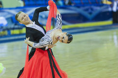 Minsk-Belarus, October 5, 2014: Unidentified Professional dance Royalty Free Stock Image