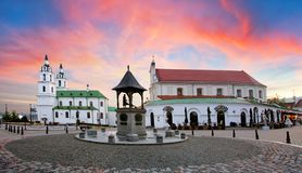 Free Minsk, Belarus - Orthodox Cathedral Of The Holy Spirit Viewed At Sunset Stock Photography - 160430702
