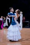 MINSK-BELARUS, OUTUBRO 9: Pares júniors da dança Imagem de Stock