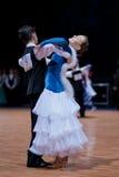 MINSK-BELARUS, OUTUBRO 9: Pares júniors da dança Foto de Stock Royalty Free