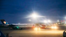 Minsk, Belarus Plans d'avions de support de Belavia de lignes aériennes au Th Image libre de droits