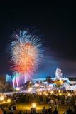 Minsk, Belarus Saludo festivo durante la celebración del día de Minsk Fotos de archivo