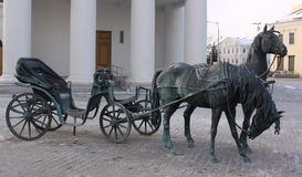 Minsk. Belarus. Sculpture in the center of city Stock Photo