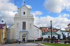 Free Minsk, Belarus, September, 28, 2015. People Walking Near St. Joseph`s Church, 4 Cyril And Methodius Street, Minsk, Belarus Royalty Free Stock Image - 186269066
