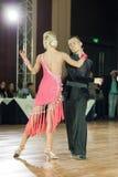 Minsk, Belarus-September 27, 2015: Egor Kosyakov and Anastasiya. Belmach Perform Youth Latin- American Program on III International IDSA World Dance Royalty Free Stock Photography