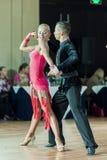 Minsk, Belarus-September 27, 2015: Egor Kosyakov and Anastasiya. Belmach Perform Youth Latin- American Program on III International IDSA World Dance Stock Images