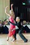 Minsk, Belarus-September 27, 2015: Egor Kosyakov and Anastasiya. Belmach Perform Youth Latin- American Program on III International IDSA World Dance Stock Photos