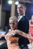 Minsk, Belarus-September 27, 2015: Egor Kosyakov and Anastasiya. Belmach Perform Youth Latin- American Program on III International IDSA World Dance Royalty Free Stock Photo