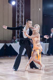 Minsk, Belarus-September 27, 2015: Egor Kosyakov and Anastasiya. Belmach Perform Youth Latin- American Program on III International IDSA World Dance Stock Photo