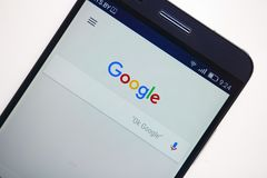 Minsk, Belarus - September 17, 2017: Google search application m stock image