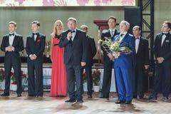 Minsk, Belarus-September 26, 2015:  Romanenko Artem and Shuhurov Stock Image