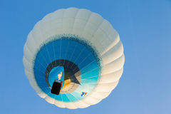 Minsk, Belarus. 12-September-2014: view of hot air baloon flying Stock Image
