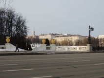 Minsk beskådar från självständighetaveny Royaltyfria Bilder