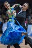 Minsk, Biélorussie 15 février 2015 : Divtsov Dmitrii et Gribkova M Photos stock