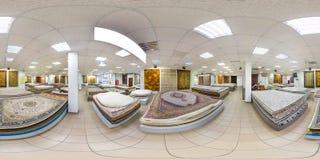 MINSK BIAŁORUŚ, MAJ, -, 2017: Pełna bezszwowa panorama 360 stopni kąta widoku wśrodku wnętrza sklep maszyna dział handmade obraz stock