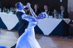 Minsk, Białoruś †'Wrzesień 26, 2015: Niezidentyfikowana taniec para Zdjęcie Royalty Free