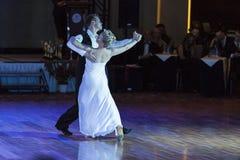 Minsk, Białoruś †'Wrzesień 26, 2015: Niezidentyfikowana taniec para Obraz Royalty Free