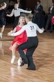 Minsk, Białoruś †'Wrzesień 27, 2015: Niezidentyfikowana taniec para Fotografia Royalty Free