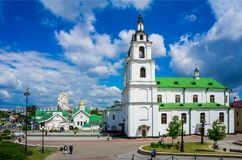 Minsk, Białoruś katedra Święty duch Zdjęcia Stock