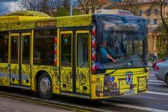 MINSK BIAŁORUŚ, MAJ, - 01, 2018: Plenerowy widok MAZ miasta Minsk samochodu autobusowa roślina jest jeden wielkie firmy wewnątrz Obrazy Royalty Free